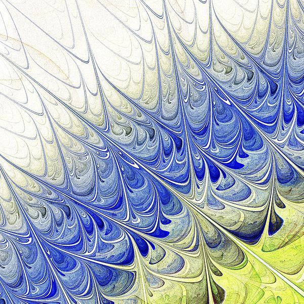 Blue Folium Print by Anastasiya Malakhova
