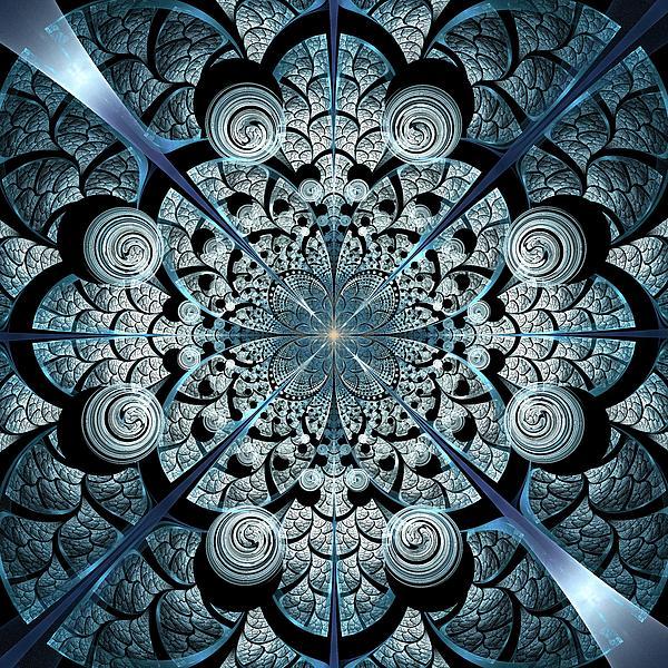 Blue Gates Print by Anastasiya Malakhova