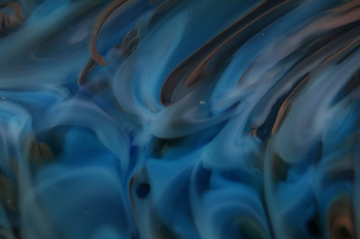 Blue Glass Waves Print by Kimberly Lyon