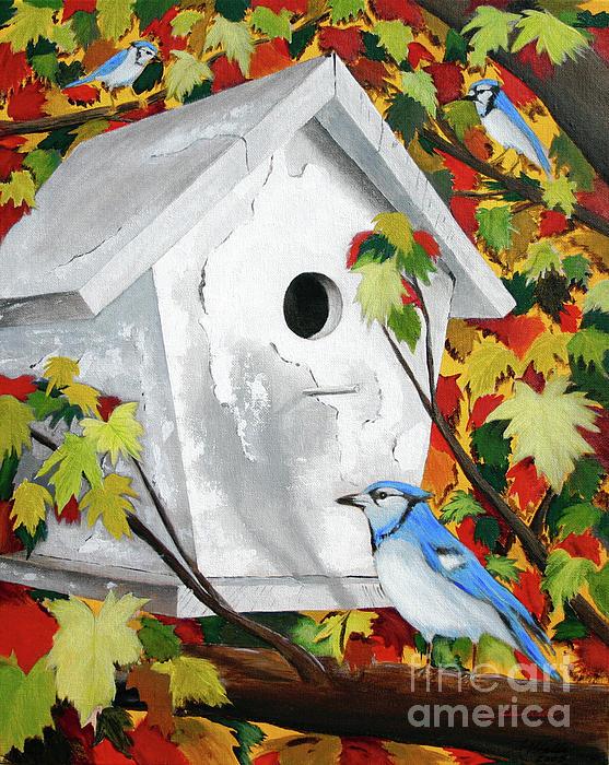 Blue Habitat Print by Andrew Wells