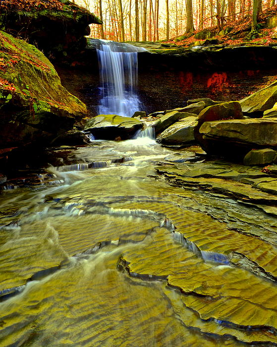 Blue Hen Falls Print by Frozen in Time Fine Art Photography