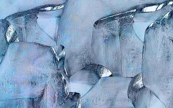 Blue Ice Print by Jack Zulli