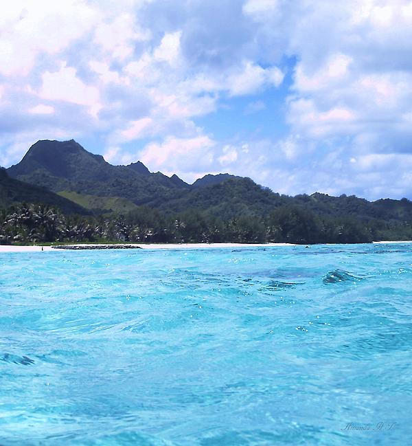 Blue Lagoon Cook Islands Print by Amanda Lee Tzafrir