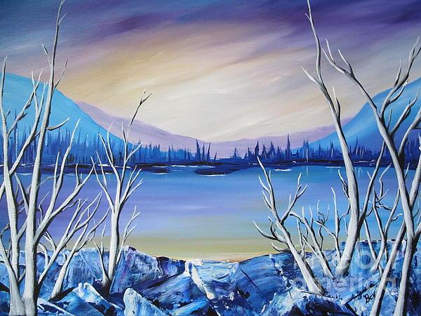 Blue Lake Print by Beverly Livingstone
