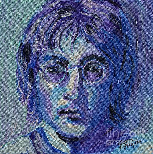 Blue Lennon Print by Jeanne Forsythe