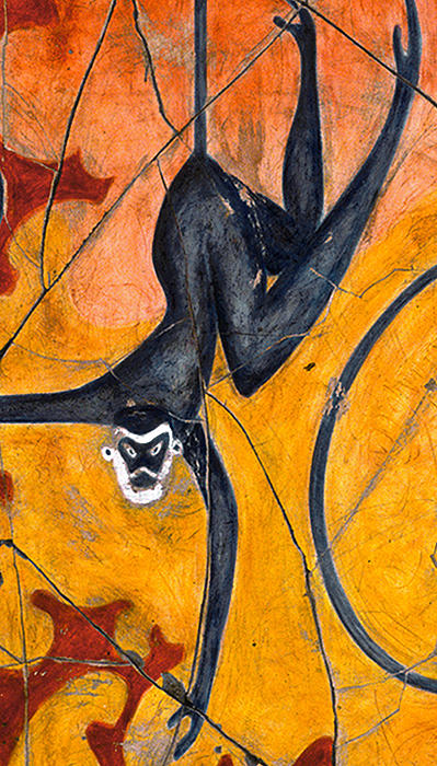 Blue Monkeys No. 9 - Study No. 3 Print by Steve Bogdanoff