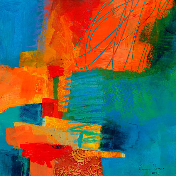 Blue Orange 2 Print by Jane Davies