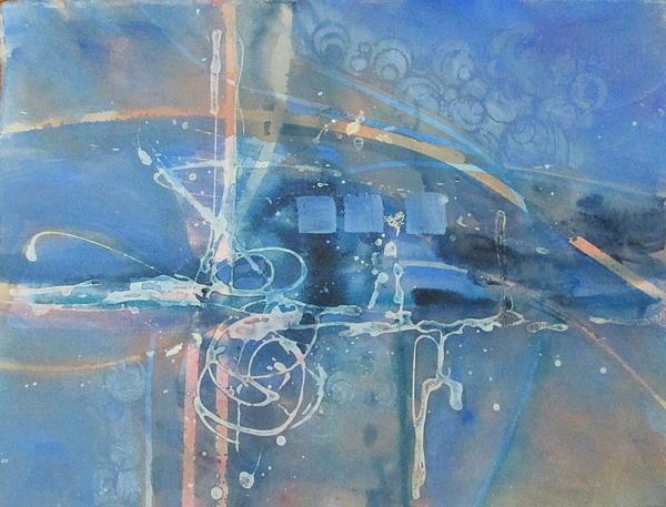 Blue Peace Print by Patricia Mayhew Hamm