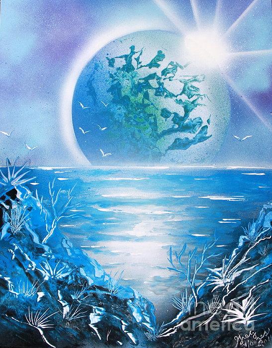 Blue Planet Print by Greg Moores