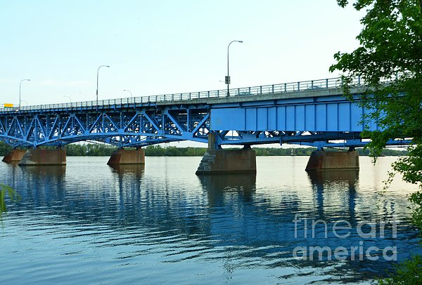 Blue Reflections Print by Kathleen Struckle