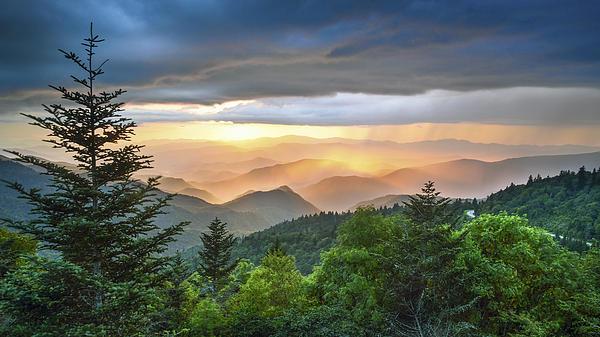Robert Stephens - Blue Ridge Parkway NC - Golden Rainbow