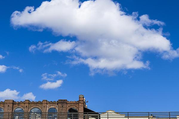 Blue Sky Bricks Print by Frank Winters