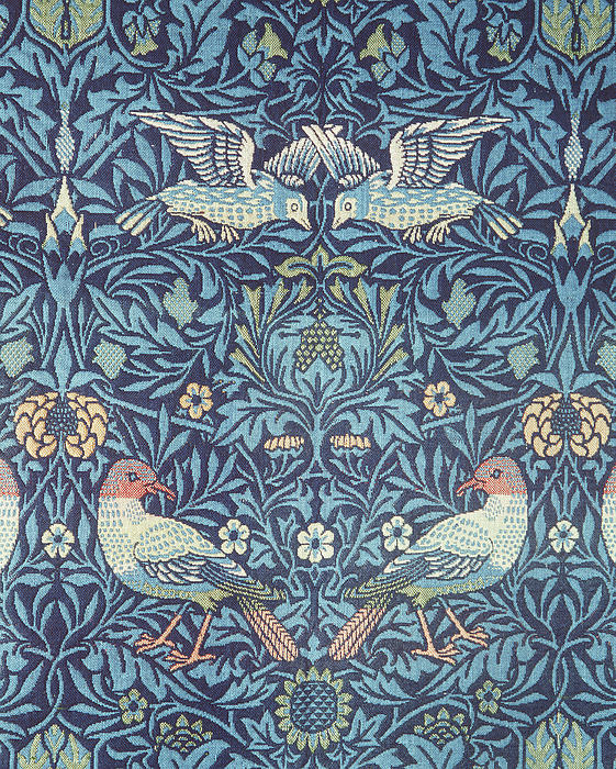 Blue Tapestry Print by William Morris