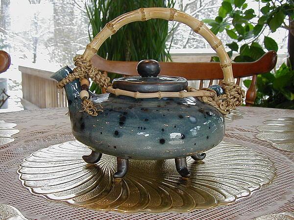 Blue Teapot Print by Beth Gramith