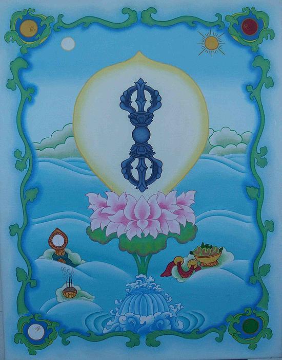 Blue Vajra Print by Andrea Nerozzi