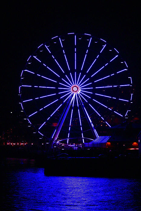 Blue Wheel Of Fortune Print by Kym Backland