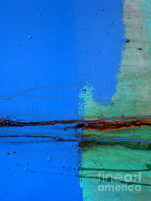 Blue With Streaks Print by Robert Riordan