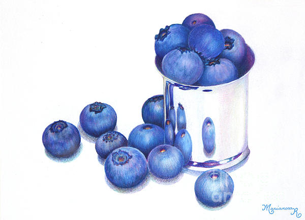 Mariarosa Rockefeller - Blueberries and Silver