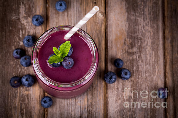 Blueberry Smoothie Print by Jane Rix