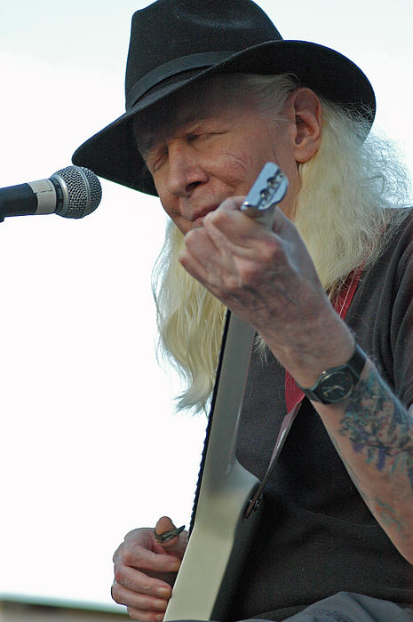 Bluesman Johnny Winter Print by Mike Martin