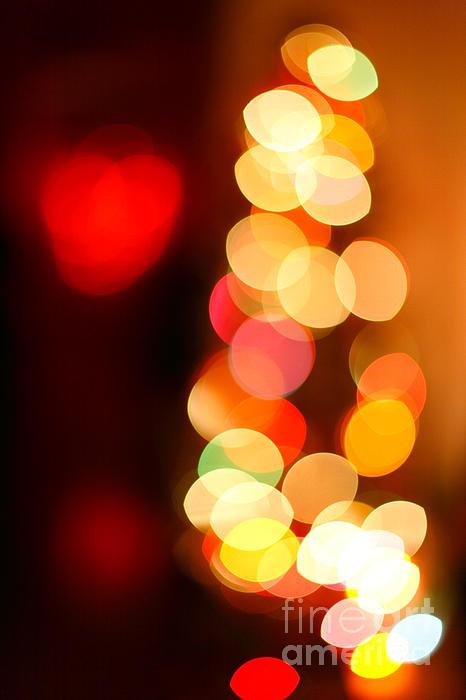 Blurred Christmas Lights Print by Gaspar Avila