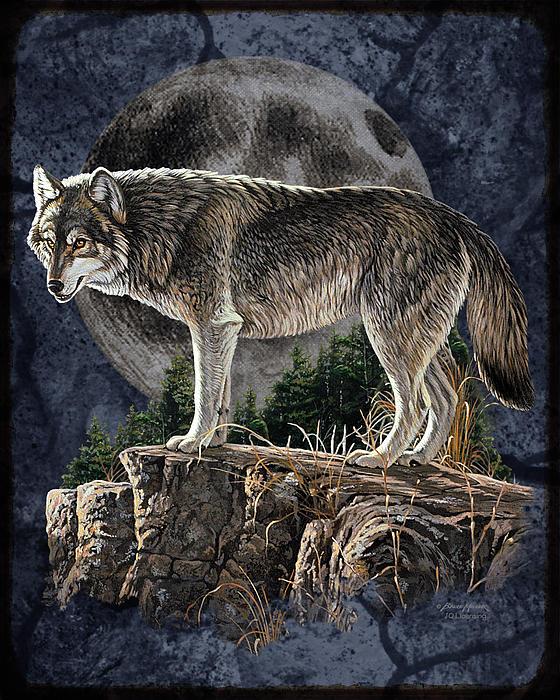 Bm Wolf Moon Print by JQ Licensing