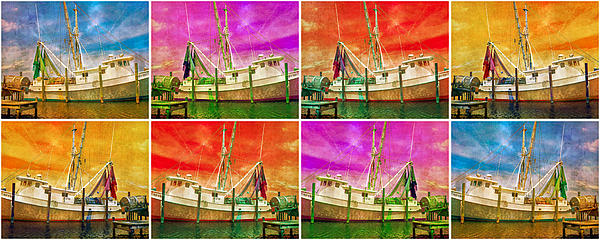 Boat Of A Different Color Print by Betsy A  Cutler