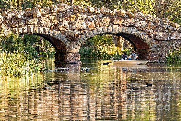 Kate Brown - Boaters under the Bridge