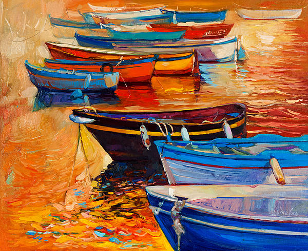 Boats Print by Ivailo Nikolov