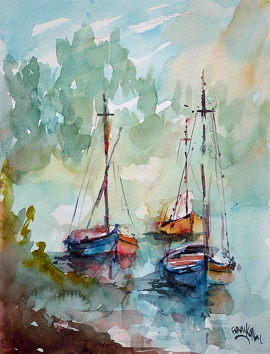 Faruk Koksal - Boats on Lake