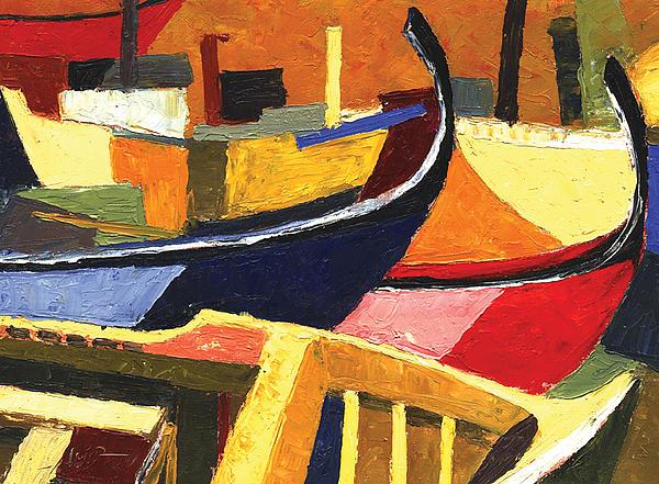 Boatyard Print by Ahmed Amir