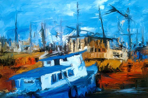 Boatyard Print by Amir