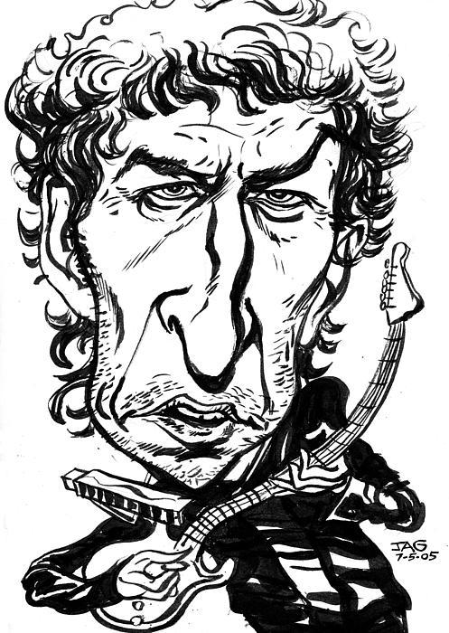 Bob Dylan Print by John Ashton Golden