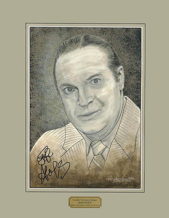 Bob Hope Portrait Print by Herb Strobino