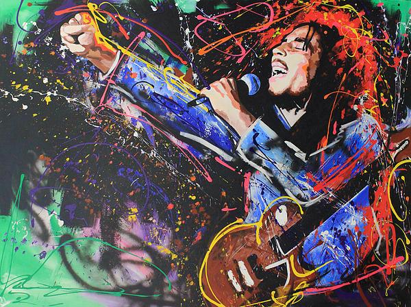 Bob Marley Print by Richard Day