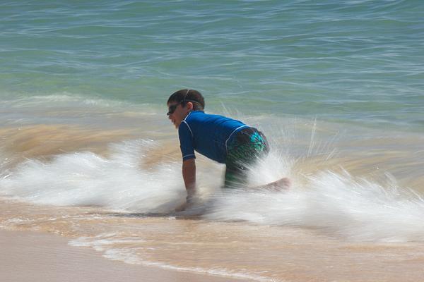 Body Surfing Print by Bonita Hensley