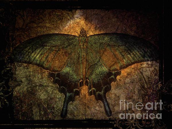 Bohemia Butterfly - Art Nouveau Print by Absinthe Art By Michelle LeAnn Scott