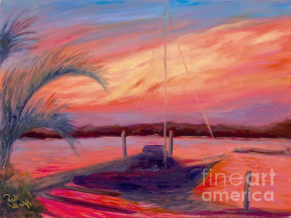 Bohicket Sunset Print by Patricia Huff