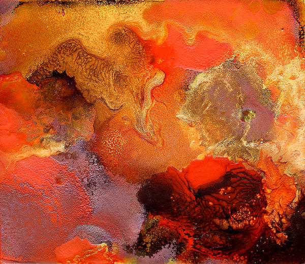 Boiling Lava Print by Julia Fine Art And Photography