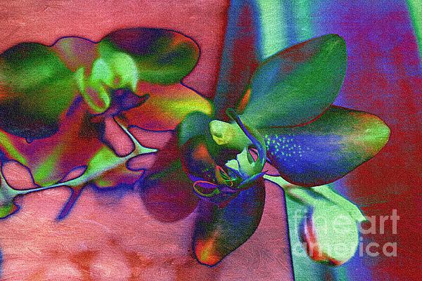 Bold Orchids Print by Janice Rae Pariza