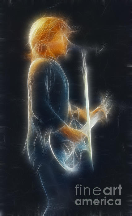 Bon Jovi-jon-ga12-fractal Print by Gary Gingrich Galleries