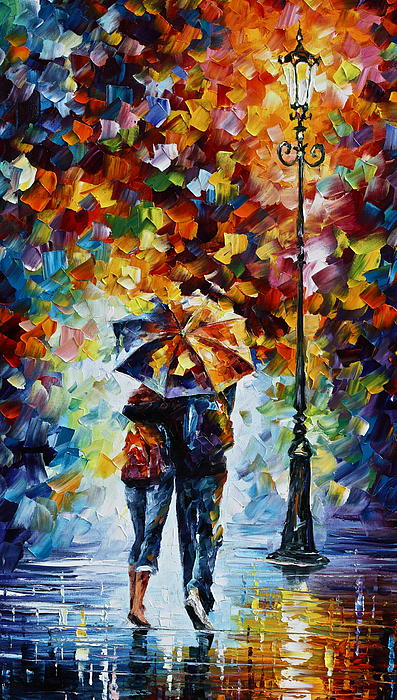 Bonded By Rain 2 Print by Leonid Afremov