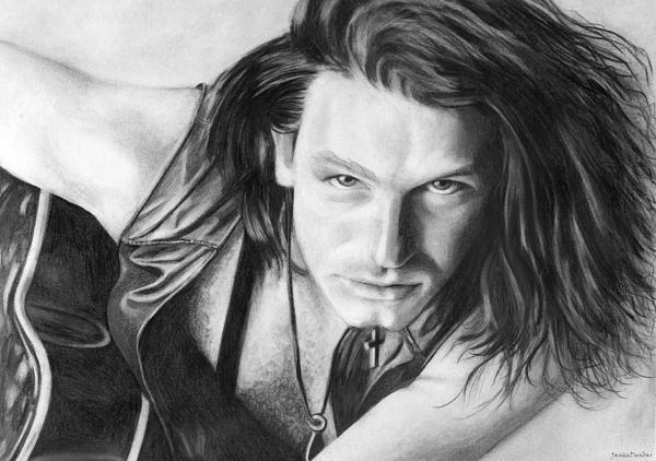 Bono Print by Janice Dunbar