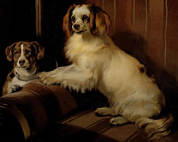 Bony And Var Print by Sir Edwin Landseer