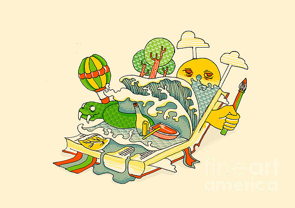 Book Is The Window Of The World Print by Budi Satria Kwan