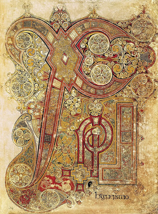 Book Of Kells. 8th-9th C. Chapter Print by Everett