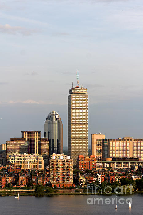 Boston Back Bay With The Prudential Tower Print by Jannis Werner