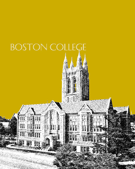 Boston College - Gold Print by DB Artist
