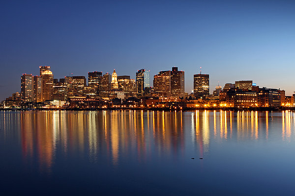 Boston Harbor And Downtown Print by Juergen Roth