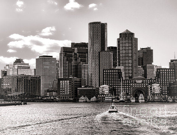 Boston Print by Olivier Le Queinec